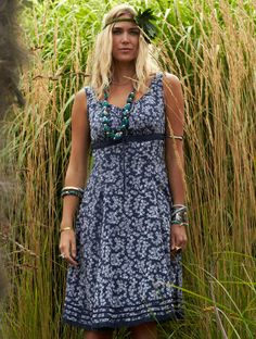 ML21 Drawstring dress from Nomads shown on location xx