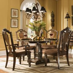Grand Estates 5 Piece Dining Table and Chairs Set by Fairmont