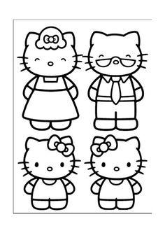 Hello Kitty Målarbilder för barn. Teckningar online till skriv ut. Nº 22