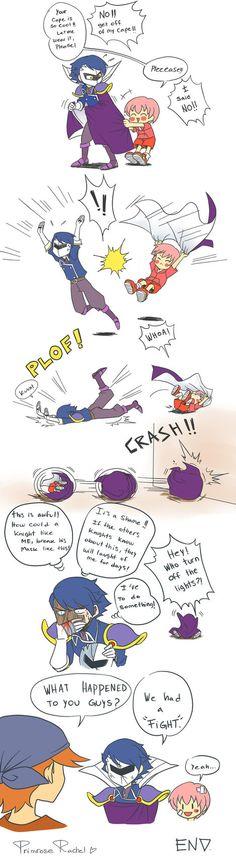 Meta Knight's cape - short comic by Primrose-Rachel on DeviantArt