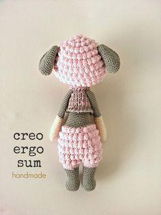 Big Amigurumi sheep doll lalylala design inspired Pink bloom