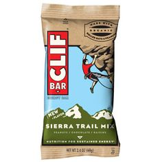 The New Sierra Trail Mix CLIF Bar is Amazing. We're obsessed with it. It has crunchy peanuts, rich chocolate, sweet raisins, plus pumpkin and sunflower seeds. #SelfMagazine