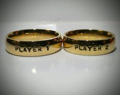 Player 1 Player 2 Ring Set Valentines Day Gift Ring