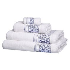 Buy John Lewis Fringe Border Towels Online at johnlewis.com  Face cloth, L30 x W30cm - £4 Hand towel, L100 x W50cm - £12 Bath towel, L140 x W70cm - £20 Bath sheet, L150 x W100cm - £28