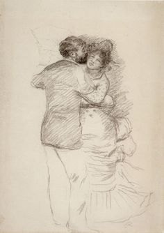 Pierre-Auguste Renoir - Study for 'Dance in the Country', pencil, 1883 - Pierre-Auguste Renoir - Wikipedia, the free encyclopedia Country Dance, Country Art, Pierre Auguste Renoir, Drawing Sketches, Art Drawings, August Renoir, Painting Gallery, Art Gallery, Impressionist Art
