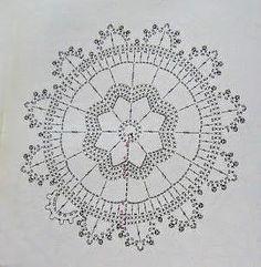 Anabelia craft design: Crochet doilies and lace motifs - motif 5 Crochet Snowflake Pattern, Crochet Snowflakes, Crochet Mandala, Crochet Squares, Crochet Granny, Crochet Motif, Crochet Doilies, Crochet Flowers, Crochet Patterns