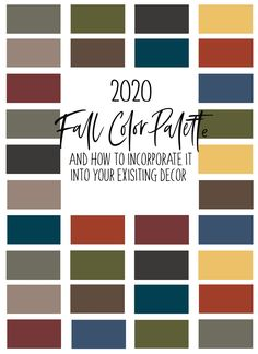 Back by Popular Demand, fine art photographer and designer, Jessica Kimmel Manelis shares her 2020 Fall color trend palette.