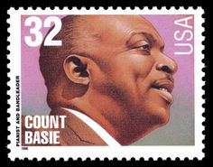 "William J. ""Count"" BASIE - American big band leader and jazz pianist. // Stamp: US 1996 - Big Band Leaders, Renaissance Music, Count Basie, Commemorative Stamps, Jazz Musicians, Jazz Composers, Black History Facts, African American History, Stamp Collecting"