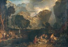 Joseph Mallord William Turner 1775–1851 Title The Goddess of Discord Choosing the Apple of Contention in the Garden of the Hesperides Date Exhibited 1806 Medium Oil paint on canvas Dimensions Support: 1553 x 2184 mm frame: 1895 x 2510 x 142 mm