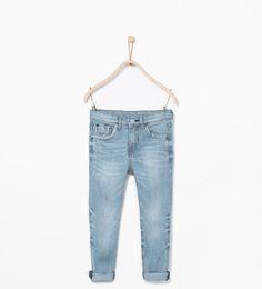Pantaloni denim a righe taschino