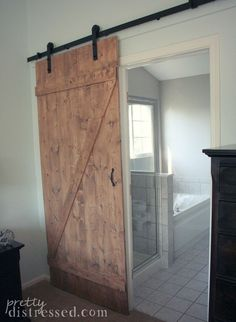 DIY Distressed Sliding Barn Door Part 91