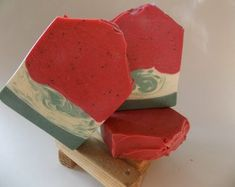 Watermelon, Bar Soap, Handmade, Scented Soaps, Exfoliation Soaps, Artisan Soap, Red Soap, Great Gift, Poppy Seeds, Luxury Soap, Unisex Scent