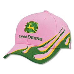 Women's John Deere hat with Green Flame!
