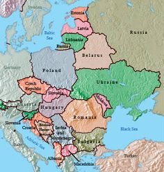 40 best Maps of Central and Eastern Europe images on Pinterest ...