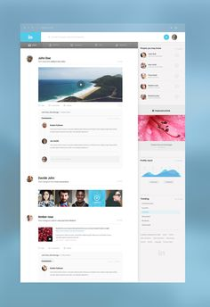 Menu #ui #social #feed  Nice composition of the comments with the main content