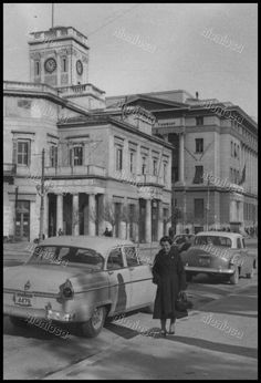 Πειραιάς, 1957. Greece Pictures, Old Pictures, Old Photos, Athens Greece, Ancient Greek, Vintage Images, Past, Street View, Memories