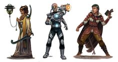 Various characters for Monte Cook Games. All rights reserved.