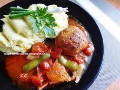 Raspberrybrunette: Pečené mäsové gule so syrom na zelenine  Jednoduch...