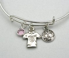 Soccer Charm Bracelet  Alex and Ani Inspired by MyInitialCharm
