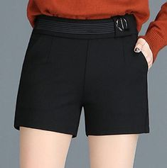 96f176d5586d AngelSpace Womens High Waist Summer Plus Size Leisure Straight Casual Shorts
