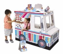 Melissa and Doug Melissa & Doug Food Truck Playhouse Kids - All Toys & Games - Macy's Indoor Playhouse, Cardboard Playhouse, Build A Playhouse, Cardboard Toys, Simple Playhouse, Playhouse Kits, Play Ice Cream, Unique Toys, Melissa & Doug