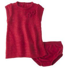 Cherokee® Newborn Girls' Sweater Dress - Red