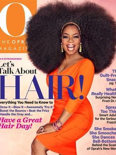 Oprah rocking it on the cover of her magazine