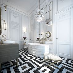 Bathroom design ideas: 5 amazing floor tiles | Visit and follow modernhomedecor.eu for more inspiring images and decor ideas