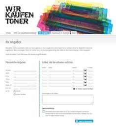 Neues Formular für Aufkaufangebote von Tonerrestposten. http://www.wir-kaufen-toner.de/ihr-angebot