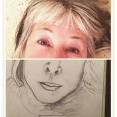 Day 20 #selfieselfself art project. Daily selfie self portrait. The art of drawing what you see not what you think you see.