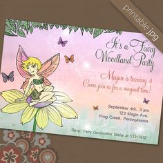 Fairy invitation