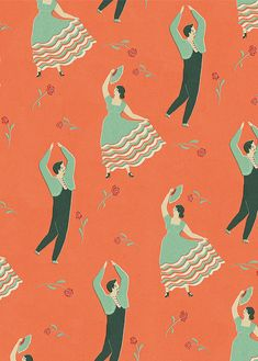 Let's Dance! Great Illustrated Wrapping Paper by Naomi Wilkinson - The Fox Is Black