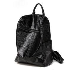 Comprar mochilas de viajar piel cocodrilo de nuevo buena calidad online única mochila cuero de gran capacidad [VL10500] - €91.28 : bzbolsos.com, comprar bolsos online