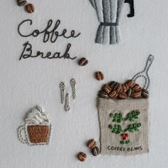 """좋아요 1,019개, 댓글 81개 - Instagram의 아뜰리에 올라(@atelier_hola)님: """". . Coffee Break ☕️. 커피가 생각나는 계절이... . . #아뜰리에올라의프랑스자수작업실 에 수록. #프랑스자수 #손자수 #자수타그램 #자수 #대전프랑스자수 #취미…"""""""