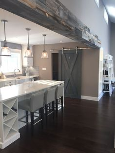 @stikwooddesign reclaimed weathered wood beams