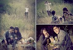 appeals to to Walking Dead side of me lol  zombie engagement shoot1