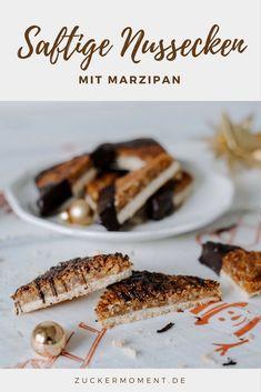 Knusprige Marzipan-Nussecken und Backpapier für echte Verpackungsopfer - Zuckermoment