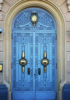 This details and color are sublime. blue door in Egypt