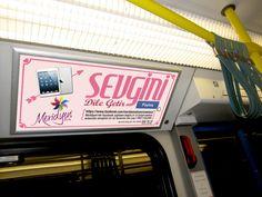 Meridyen AVM vagon için reklam tasarımı