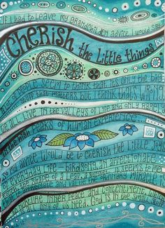 Now I want to make a turquoise page in my art journal!