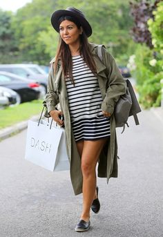 Kourtney Kardashian et son trench ASOS