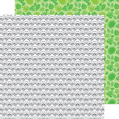 Item:5659  roly poly pandas double-sided cardstock