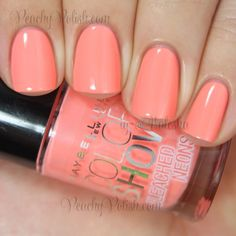 """""""Coral Heat"""" - Maybelline Color Show Bleached Neons Collection Swatches and Review"""