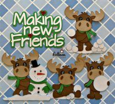 Winter Moose Snowman Premade Paper Piecing Scrapbook Pages Borders Boy Girl CBC | eBay