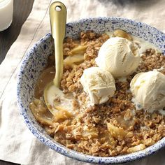 Healthy Apple Crisp Recipe -This is the perfect ending to any meal. It's as quick as a boxed cake mix but is a healthier dessert choice. It's ideal in fall when it seems like everyone has a bag of fresh apples to give away! —Terri Wetzel, Roseburg, Oregon