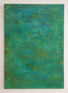 """Komorebi, oil on canvas. Glimpses of blue sky between tree leaves. Visit me on Etsy: ClaudiaCaseriArt # oil paintings #art #home decoration"
