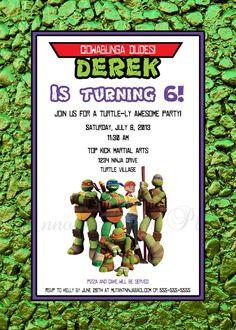 14 Best Ninja Turtle Invitations Images Ninja Turtle Invitations