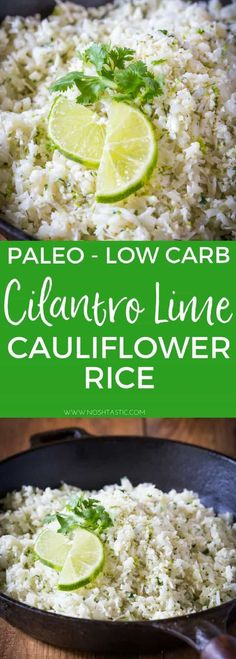 Cilantro Lime Cauliflower Rice Recipe, so easy to make and it's low carb, Keto and Paleo too! #paleo #lowcarb #whole30 #keto #ketogenicdiet #lowcalorie #