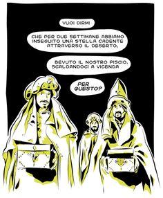 Re Magi #epifania #befana #remagi #doni #comics #vignette #fumetti #giallo #nero #illustration #fun