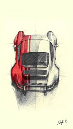 industryforever.com post 170451443680 geokan-911-carrera-rs-hand-sketch-by-stephane